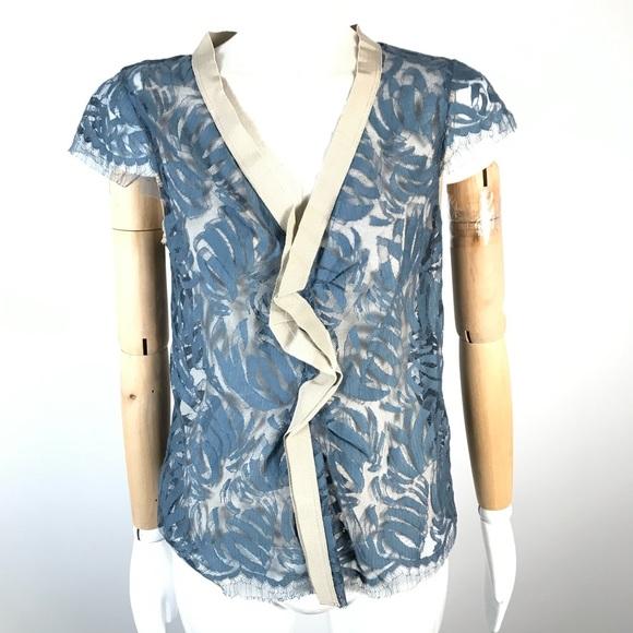 lida baday top sheer floral blouse romantic top